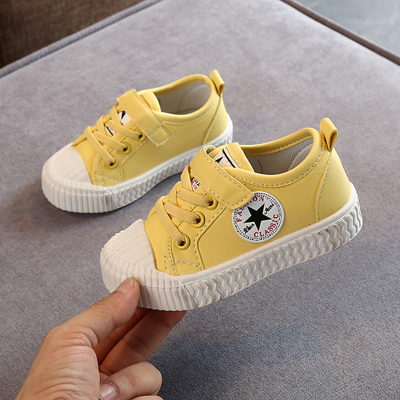 Fashion Soft Bottom Sneakers Spring And Autumn Shoes Children's Korean Plate Shoes  Little Girl Canvas Casual Shoes A946