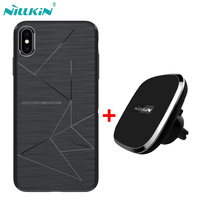 NILLKIN Magnetic wireless charger receiver case for iphone XS Max Qi Wireless Charger Car Pad & Magic case for iphone XS Max