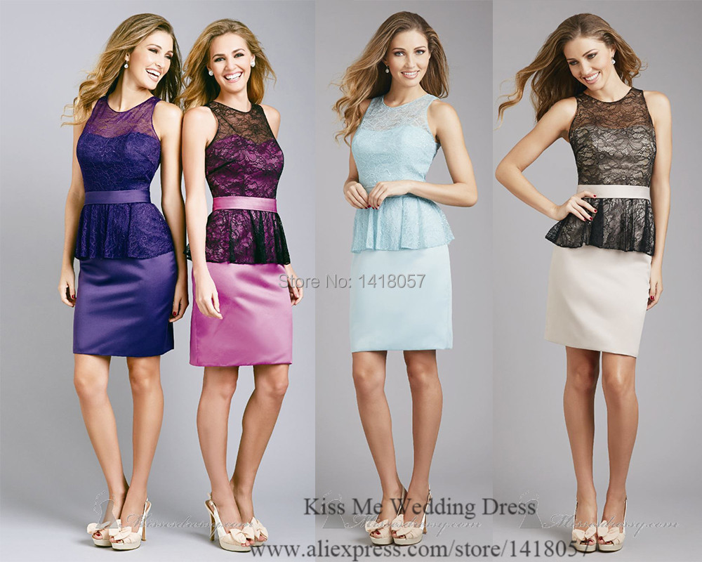 Aliexpress buy 2015 new design purple mint green lace aliexpress buy 2015 new design purple mint green lace bridesmaid dress short dress for wedding bridesmaid peplum vestdio de madrinha b576 from ombrellifo Gallery