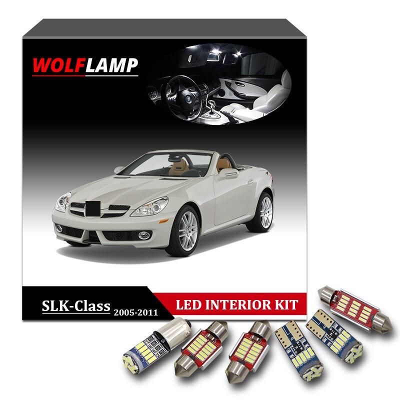 17Pcs Canbus LED Interior Car Light For 2005-2011 Benz SLK-Class R171 White Lamp