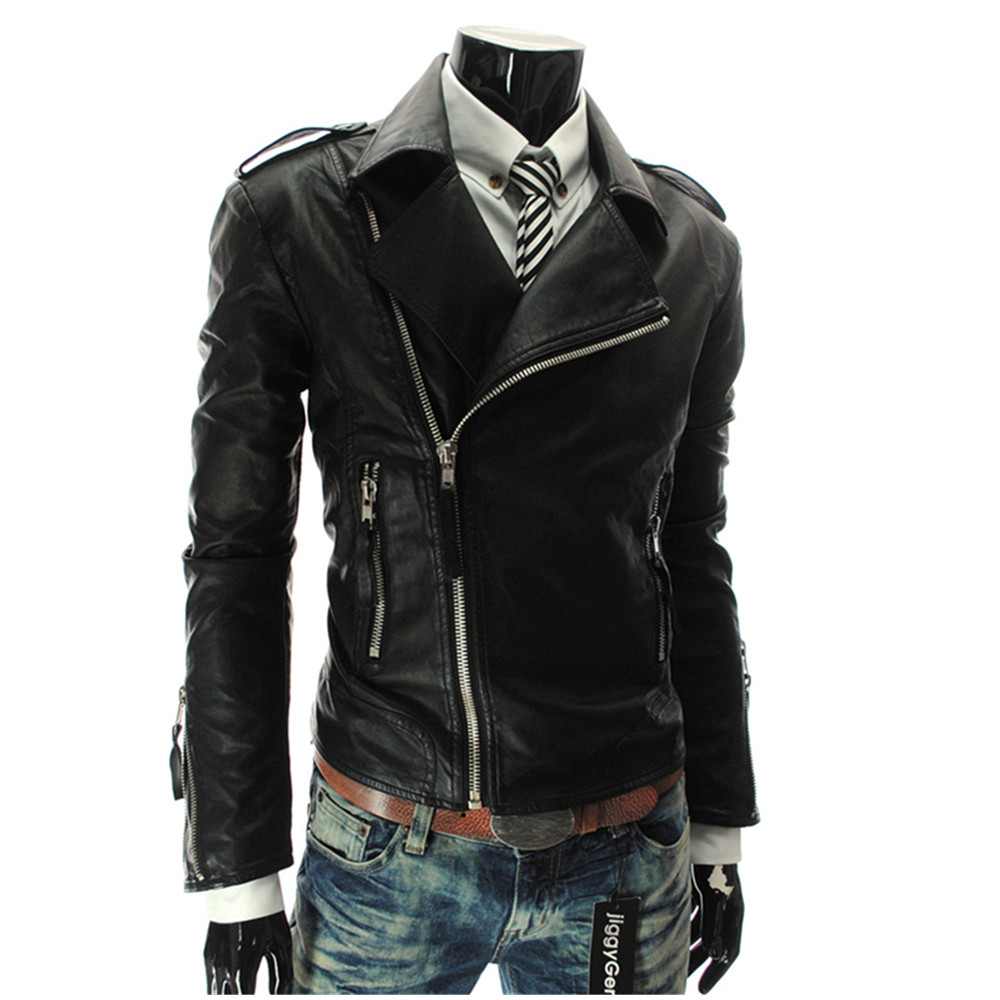 Leather Jacket Men New Arrival Brand High Quality Velvet Warm Winter Motorcycle  Mens Leather Racing Jackets Coats
