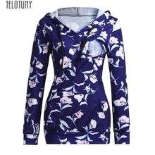 TELOTUNY топы для беременных женщин кормящих Материнство с длинными рукавами Цветочная Толстовка для кормления грудью свитшоты женская рубашка мода NOV30