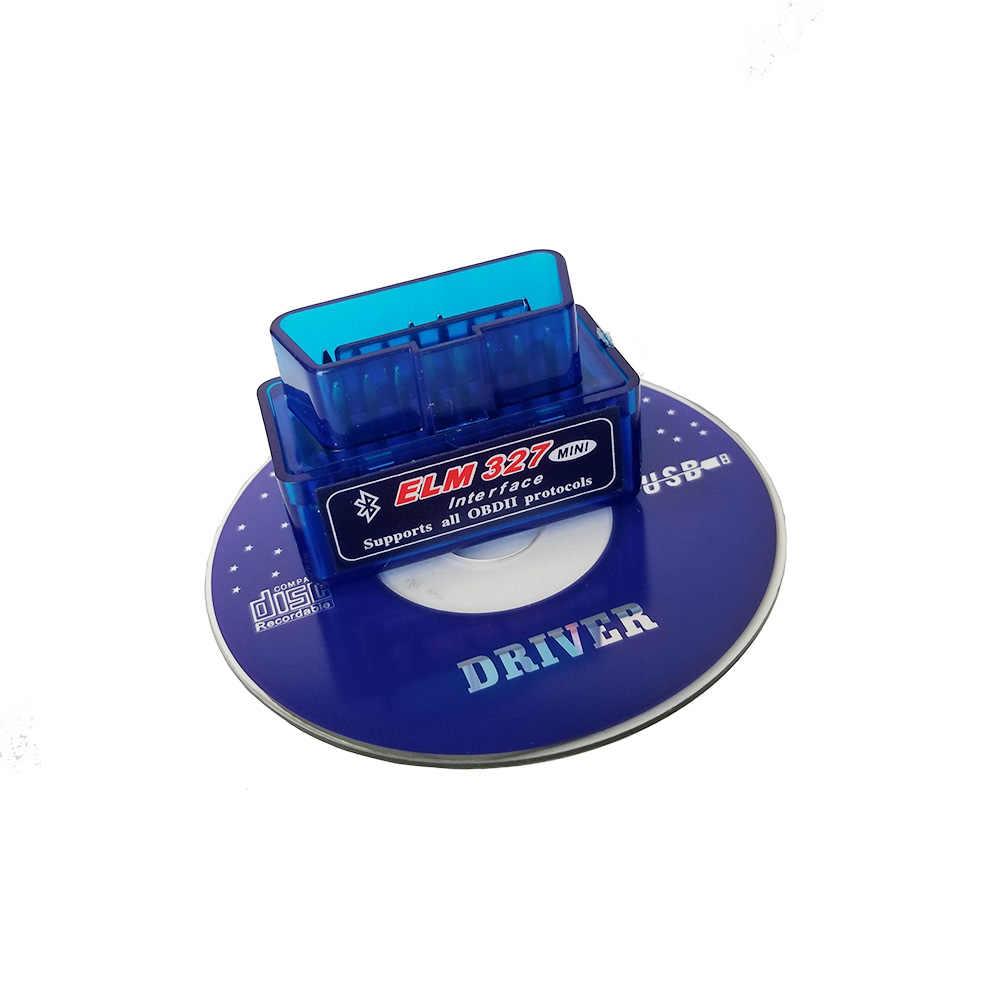 HH OBD ELM327 Bluetooth OBD2 OBDII CAN BUS kontrol motor araba otomatik teşhis tarayıcı aracı elm327 arabirim adaptörü Android PC için