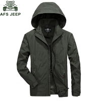 Afs Jeep 2017 Mens Jacket Coat Spring Summer Mens Military Jackets Plus Size M 6XL Windbreaker