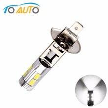 1 шт. H1 супер яркая белая высоко Мощность 10SMD 5630 авто светодиодный автомобильный противотуманный фонарь сигнала поворота светильник вождения DRL лампы 12V