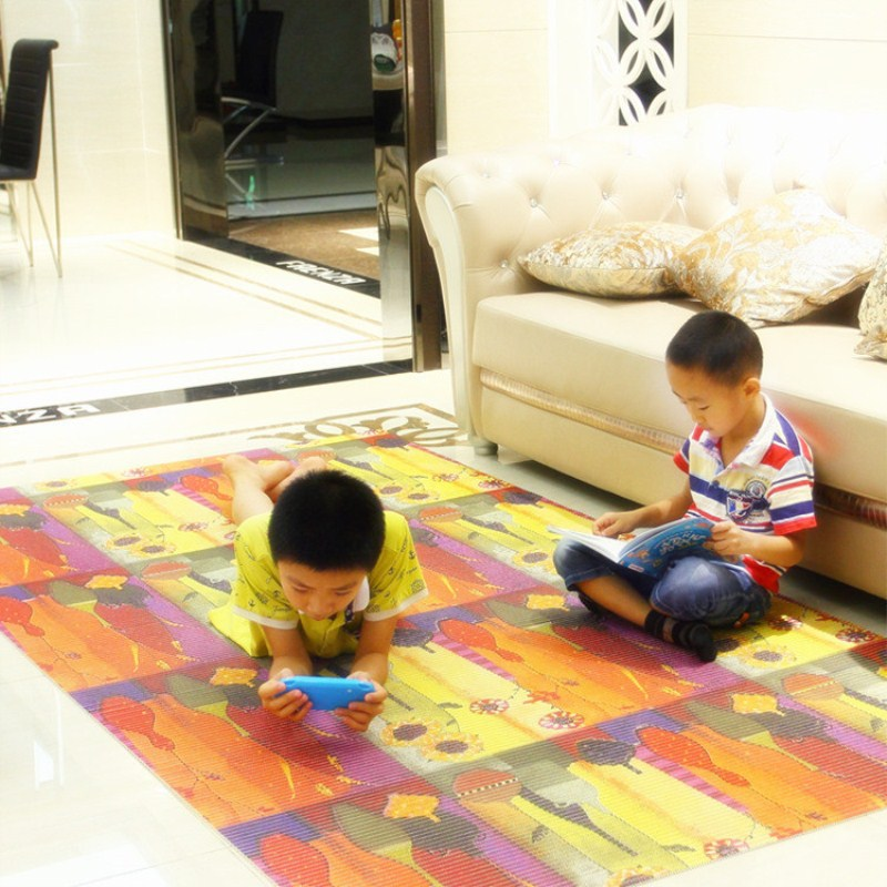 Can be cut foam floor mat living room coffee table carpet bedroom plastic doormat bay window mat tatami mat and bedding