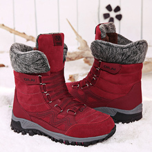 Snow Boots Women Fashion Winter Velvet Shoes for Female Keep Warm Cow Suede Short Plush Ankle Boots Ladies Non slip Waterproof women outdoors winter dress cow suede leather warm fur shoes short plush ankle snow boots lace up light non slip zapatos mujer