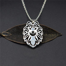 Elfin Trendy Samoyed Necklaces Gold Color Silver Color Dog Jewellery Samoyed Pendant Necklaces Women Men Jewellery(China)