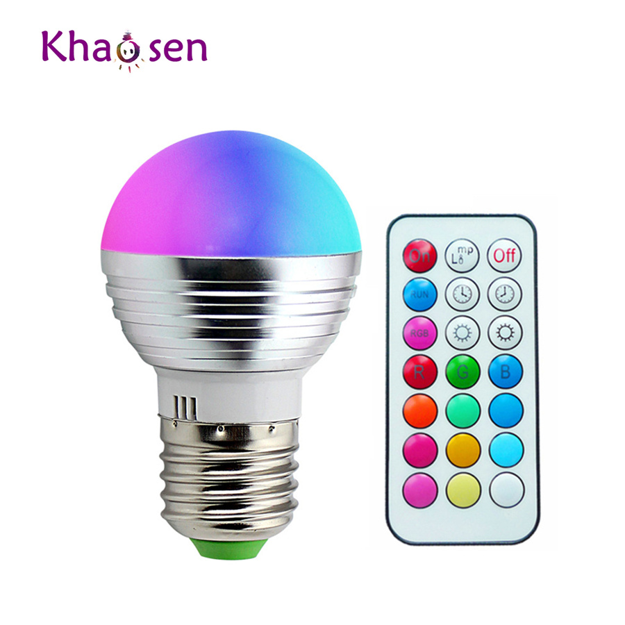 E14 E27 Led Dimmable RGBW Led Bulbs 5W 85-265V 110V 220V Colorful RGB Led Lamp Chandeliers Led Light + 21 Key Remote Controller zigbee bridge led rgbw 5w gu10 spotlight color changing zigbee zll led bulb ac100 240v led app controller dimmable smart led