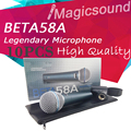 Free Shipping! Wholesale 10PCS New Professional Classics Style Beta 58a BETA58 Wired Stage Handheld Karaoke Dynamic Microphone