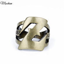 MQCHUN 2 Colors Anime Dragon Ball Z Logo Rings Vintage Punk Style Jewelry For Men Women Gifts Cosplay