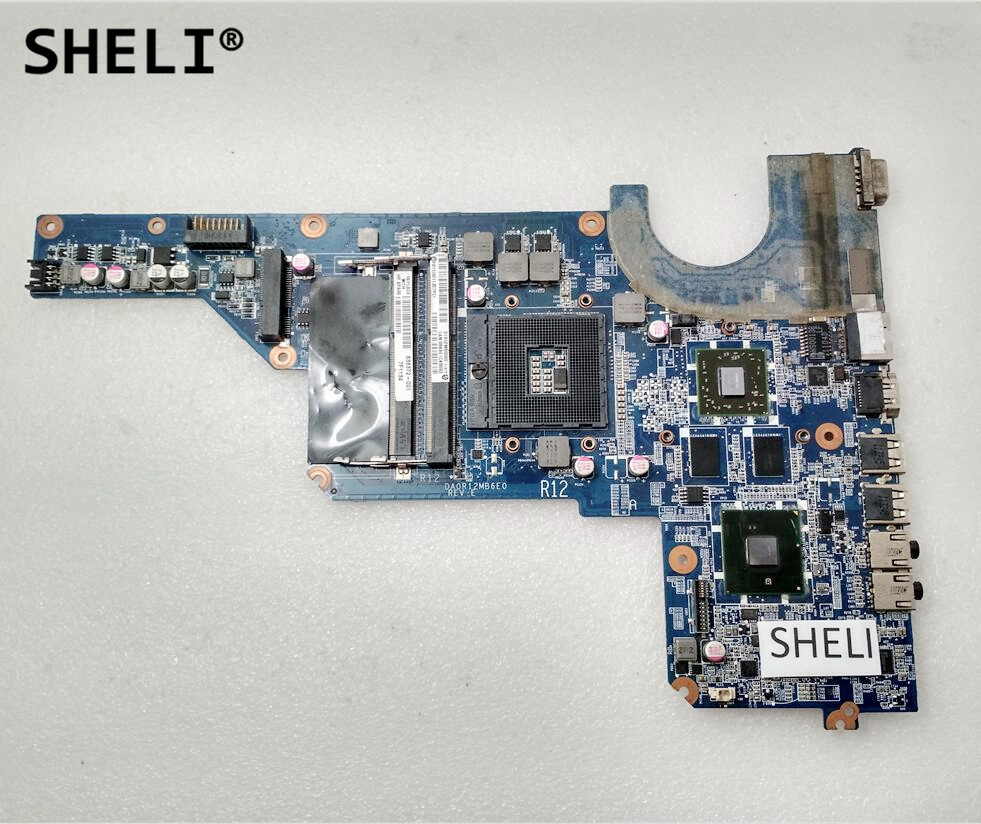 SHELI For HP G4 G6 G4-1000 Motherboard DA0R12MB6E0 636372-001 636371-001