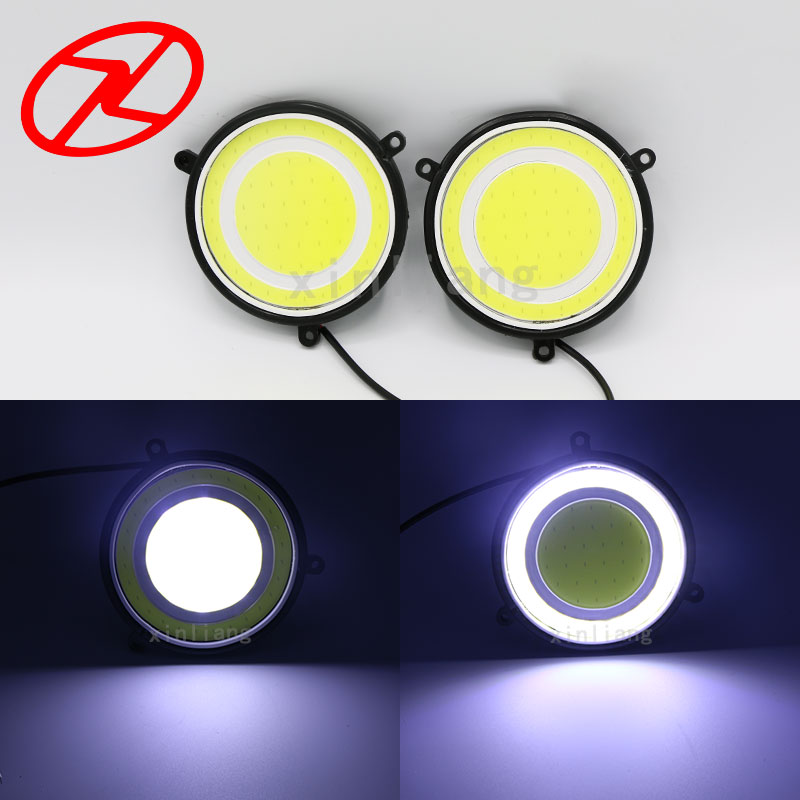 2PCS Super Bright LED Daytime Running Light Fog DRL Driving COB Day Light for car auto