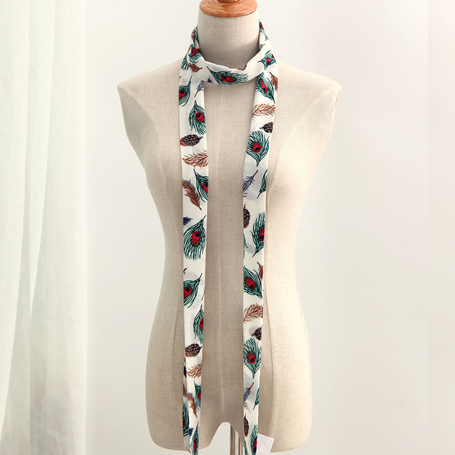 Luxury Female Narrow Scarves | Neck Scarves