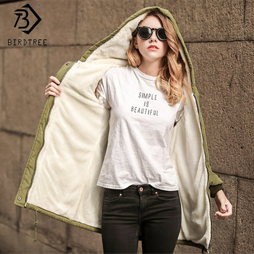 6 Colors! Winter Cashmere Parka 2017 New Winter Women Velvet Army Green Wadded Long Thicken Coats Outwear Big Size S-2XL C79002A