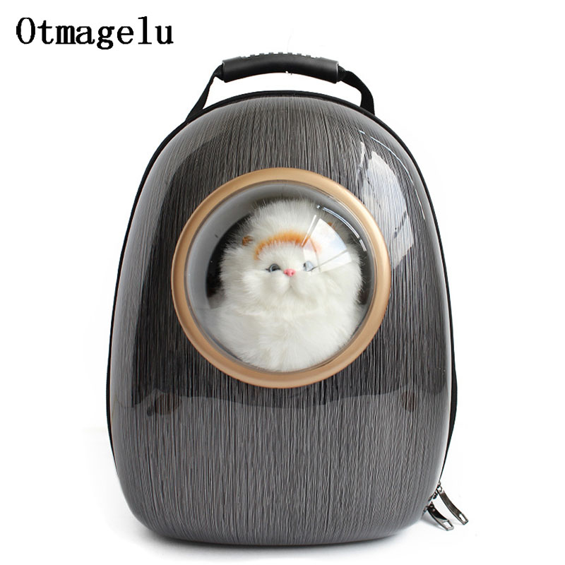 Professional Acrylic Space Capsule Car Cat Backpack Bubble Window for Kitty Puppy Small Dog Carriers Crate Outdoor Travel Bags