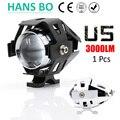 1PCS LYLLA 125W Motorcycle Motorbike Headlight 3000LM U/L Beam&Flash U5 Driving Fog Spot Head Light Lamp No Switch