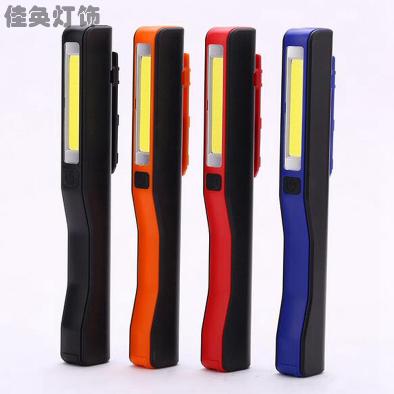 1pcs Portable COB LED Magnetic Pen Clip Hand ABS Material Not  Rechargeable Torch Work Light Lamp New YYY9307 super bright usb charging portable mini cob led flashlight rechargeable magnetic pen clip hand torch work light inspection lamp