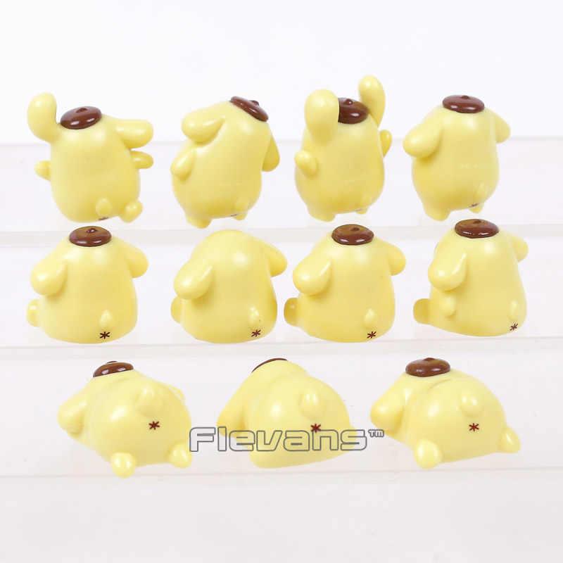 Pom Pom Purin Cão Pudim bonito Mini PVC Figuras de Animais Dos Desenhos Animados Brinquedos 11 pçs/set 2 ~ 4 cm