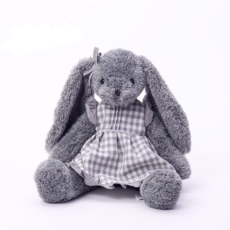 Plush toy grey rabbit mom Anne wear skirt beautiful bunny new design high quality large size total 45cm trousselier музыкальная шкатулка little grey rabbit© rabbit trousselier grey