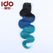 Body Wave Ombre Brazilian Hair 3 Pcs/lot Three Tone Ombre Brazilian Hair Weave Bundles Cheap Ombre Human Hair Blue Ombre Weave