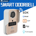 1.0MP 720P Wifi Video Door Phone Doorbell Wireless Intercom Waterproof Alarm Full Duplex Talk Take Video Mobile View Unlock