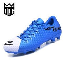 18e81138 DQG FG Для мужчин футбольные бутсы Для мужчин Обувь для футбола открытый  газон Футбол игры Спортивная обувь Длинные Спайк Traini.