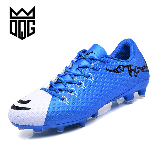 fad50fbe37c DQG FG Men Soccer Shoes Men Football Shoes Outdoor Lawn Football Games Sport  Shoes Long Spike Training Football Soccer Cleats