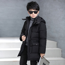 Boys parkas Winter Casual Cotton Zipper Solid Boy coat Kids Hooded Long Boys Parkas 6 8 10 12 14 16 Years Children's Clothing christmas cotton padded parkas teen winter coat girl long red pink black hooded warm winter jacket for girl 6 years 8 10 12 14