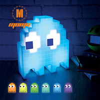 1 шт. Pac Man призрак USB лампа Цвет Изменение Свет 1 бит Pixel Стиль разных цветов лампа Неоновые украшения для вечеринок