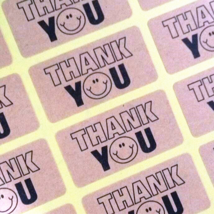 120pcs NEW thank you smile seal label sticker for handmade products Nice Kraft paper Adhesive Baking package Seal Sticker120pcs NEW thank you smile seal label sticker for handmade products Nice Kraft paper Adhesive Baking package Seal Sticker