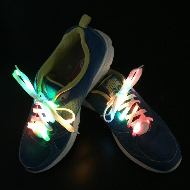 2018 New Arrival Light Up LED Shoelaces Fashion Flash Disco Party Glowing  Night Sports Shoe Laces