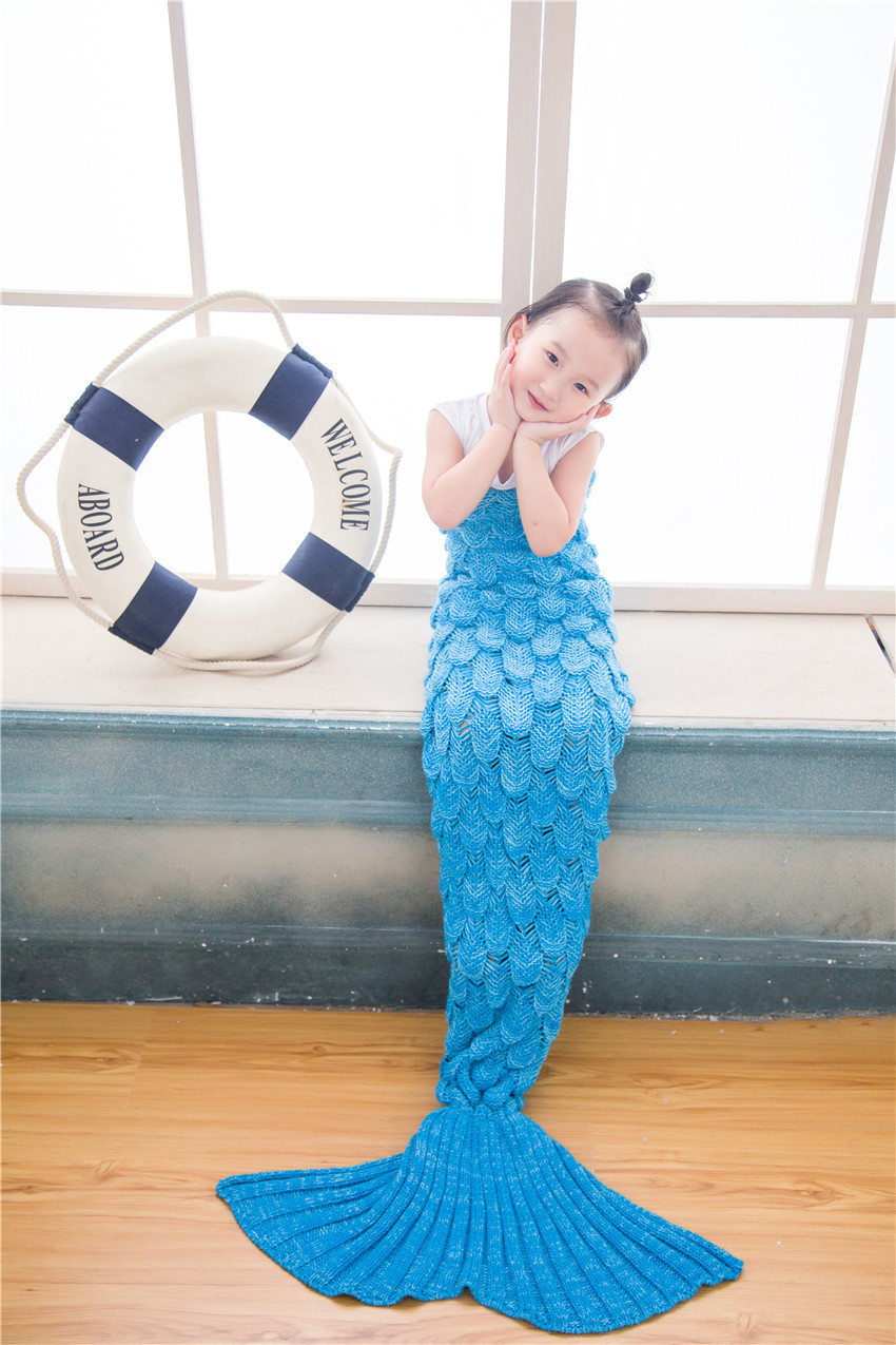 Baby Blankets Newborn New Arrival Kids Mermaid Tail Air Conditioning