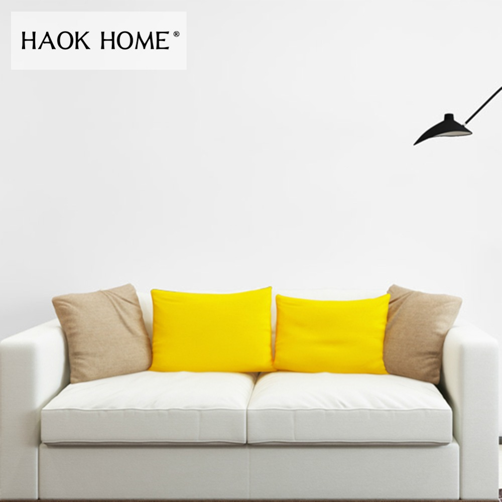 HaokHome Classic Pure Color White Peel and Stick Wallpaper Self-Adhesive Sticker Contact Paper Living Room Bedroom Home Decor