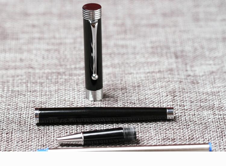 0813P fashion Black And Sliver Finance Retro-style Fine Nib Fountain Pens