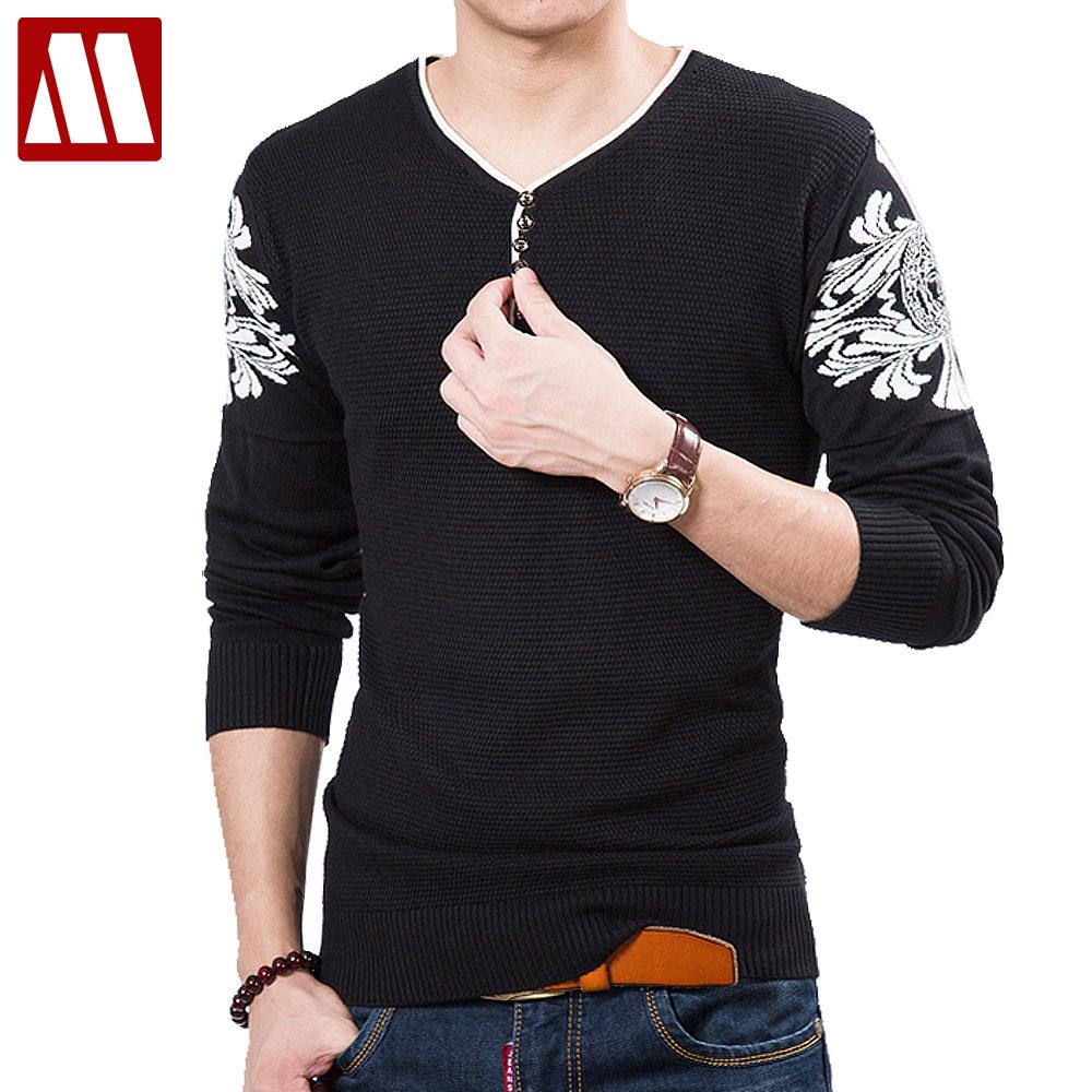Aliexpress.com : Buy Pull Homme Marque Full Men's Thin Sweater V ...