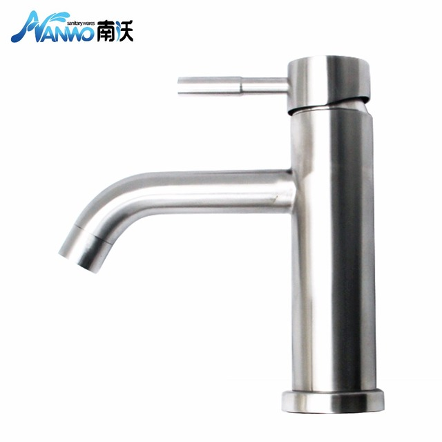 Nanwo Russian Warehouse 304 Stainless Steel BLavatory Laundry Tub Basin  Bathroom Faucet Vessel Sink Faucet N