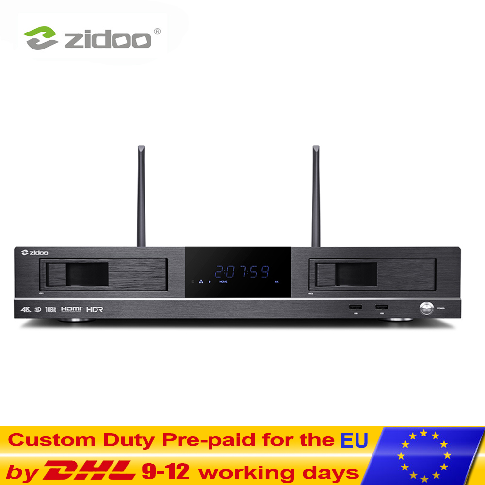 ZIDOO X20 Media Player 2GB DDR4 16GB eMMC Set Top Box 4K HDR Android TV BOX Dupla HDMI Disco Rígido Dupla Dual Band Wifi Smart tvbox