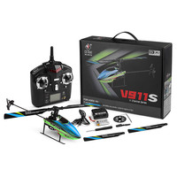 New V911S 2.4G 4CH 6 Aixs Gyro Flybarless RC Helicopter RTF Mode 2