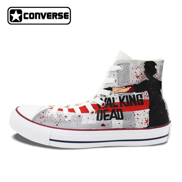 Cool Women Men's Converse Chuck Taylor Hand Painted Shoes Man Woman The  Walking Dead Custom Design