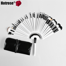 Hotrose Makeup Brushes Set 32 pcs Synthetic Professional Beauty Tools Brand Eyebrow Powder Lipsticks Shadows Brush For Women