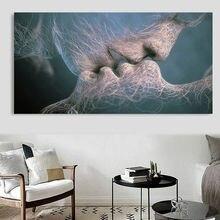 Benar Cinta Ciuman kreatif Hitam Putih Abstrak Seni Kanvas Lukisan Dinding  Gambar Seni Cetak Rumah Tanpa Bingkai Gambar Dekorasi 04094c9735