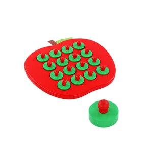 Image 2 - 子供木製の Apple メモリマッチングチェスゲーム早期教育 3D パズルファミリーカジュアルゲームパズル理想的なクリスマスギフト