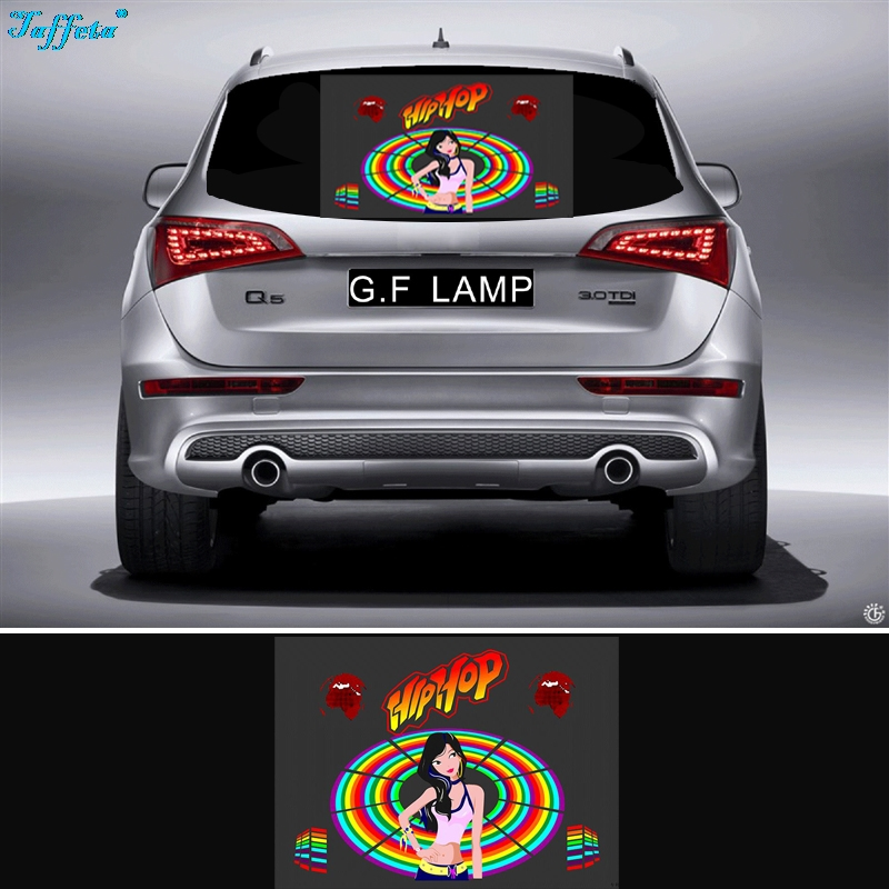 45x25 Car HIPPOP Dance Sticker Music Rhythm LED Flash Lamp Sound Activated Equalizer infant shining swing car mute flash belting leather music environmental quality children s toy car