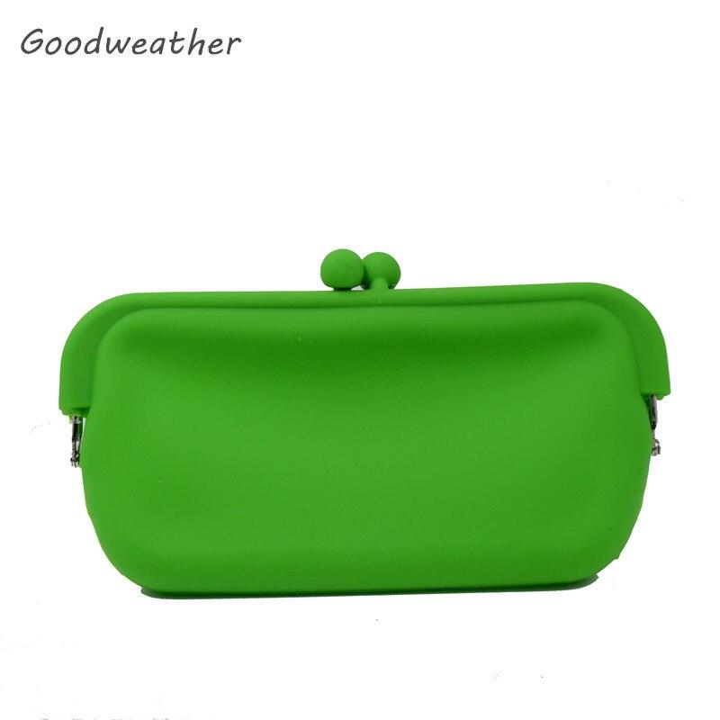 100% QualitäT Mode Kleine Sommer Strand Grüne Münze Geldbörsen Für Handy Hohe Qualität Wasserdicht Silikagel Brieftaschen 2 Farben