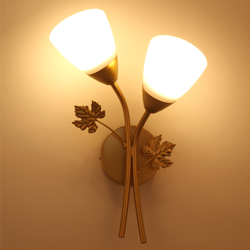 Wall Lamps black golden iron body bed Room Corridor Stair Light Decoration Staircase Living Room Lamp sconce fixture E27 e27holder wall lamps living room corridor stair black golden iron body lighting decoration bedroom beside lamp hotel room light