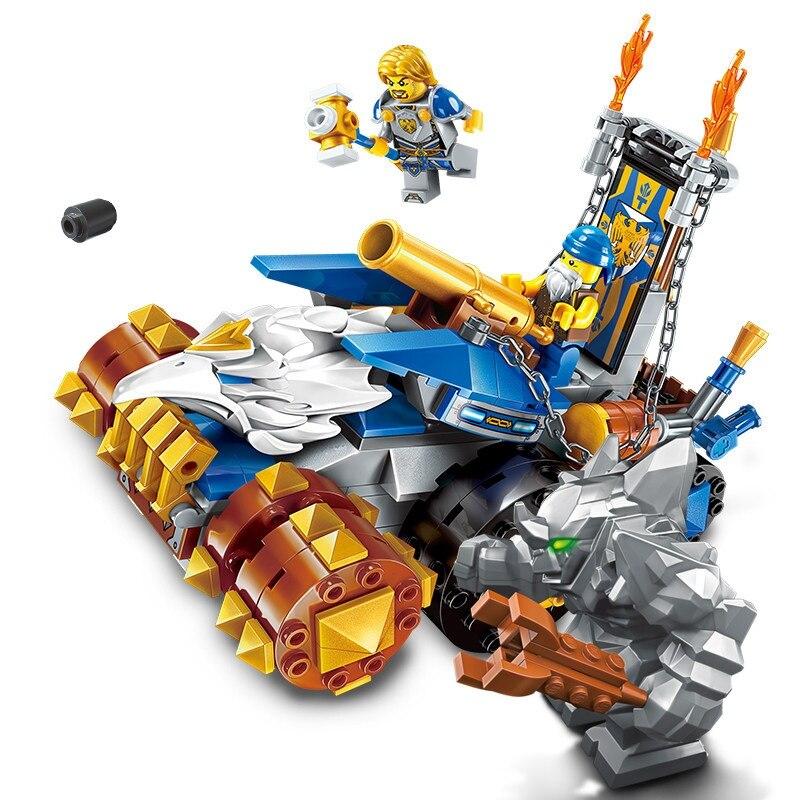 Enlighten Nexo Elves Charge Cannon Car Stone Man War of Castle Knight Building Blocks Brick Model Kids Toys Compatible Legoings art of war