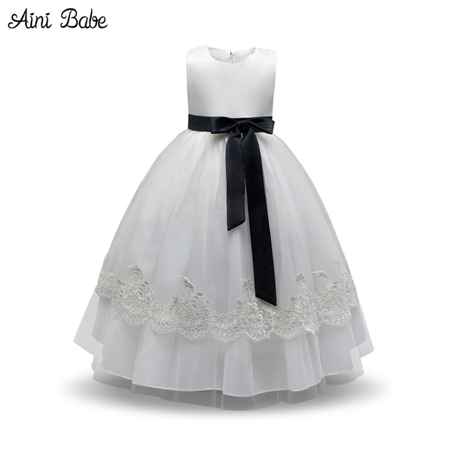 9795476474cb Aini Babe Girl Dress Frocks Children Prom Party Designs Flower Girl ...