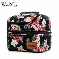 Marca Winmax, fiambrera gruesa de dos capas con aislamiento térmico para comida fresca, vino, Picnic, nevera, bolsa de mano, bolsa de almuerzo de mujeres