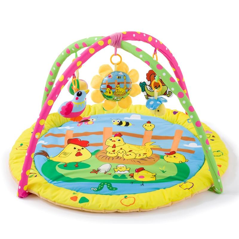 HTB1Jn3ObdzvK1RkSnfoq6zMwVXaf Baby Play Mat 90*90*50cm Tapete Infantil Kids Rug Playmat Baby Gym Fitness Frame Activity Mat Baby Toys Early education CB111